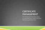 Certificate Management