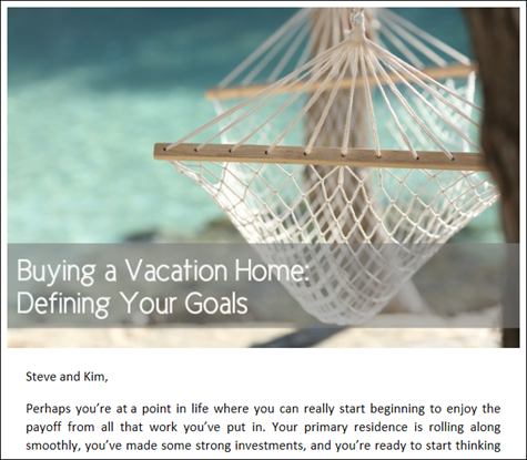 Buying a Vacation Home - Defining Your Goals