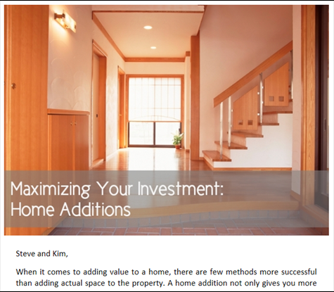 Maximizing Your Investment - Home Additions