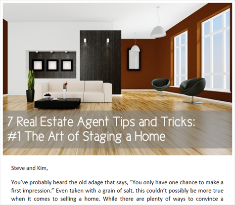 7 Real Estate Agent Tips and Tricks 1The Art of Staging a Home