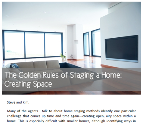 The Golden Rules of Staging a Home - Creating Space