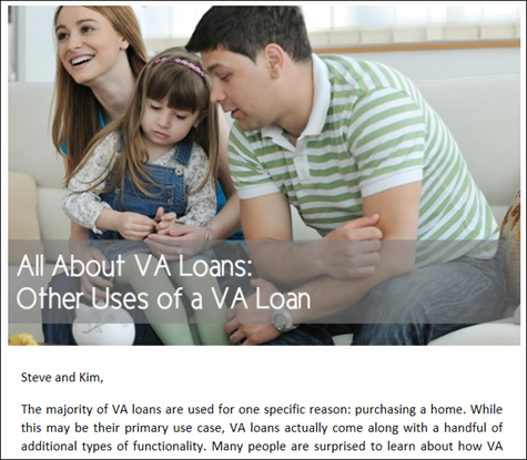 All About VA Loans - Other Uses of a VA Loan