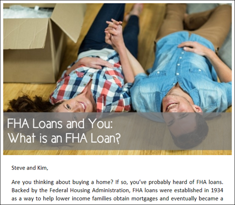 FHA Loans and You - What is an FHA Loan